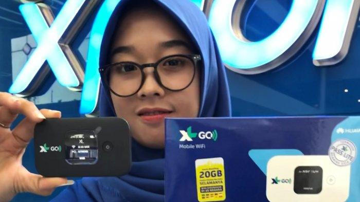 Produk baru XL berupa modem WiFi premium untuk pelanggan broadband XL Go IZI dengan device dari Huawei.