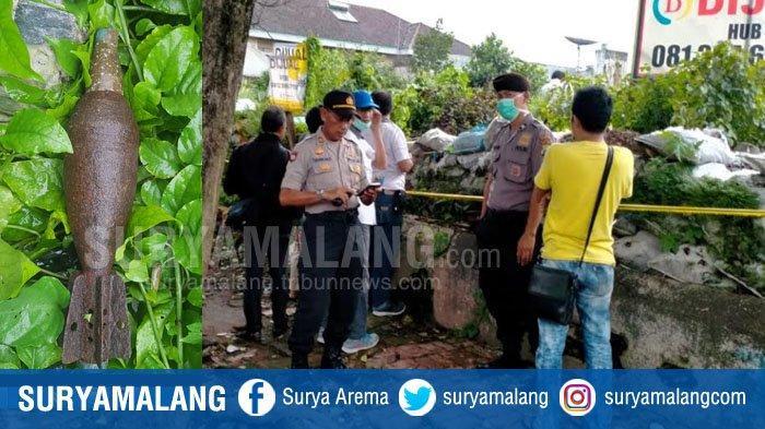 4 Petugas Jihandak Brimob Evakuasi Mortir Diduga Peninggalan Perang Dunia 2 di Klojen Malang