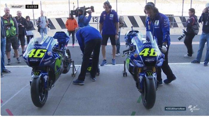 Tim MotoGP Yamaha Valentino Rossi dan Maverick Vinales Diluncurkan di Indonesia, Sponsor Utama Baru