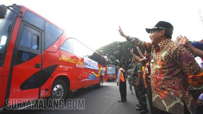 Wali Kota Malang Berangkatkan Mudik Gratis, 18 Bus Angkut 965 Orang ke Ngawi sampai Madura
