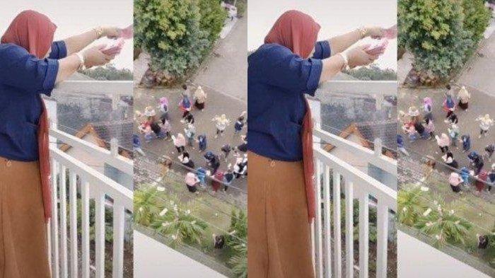 Mutoharoh, cewek viral bagi-bagi Rp 100 juta dari balkon rumahnya