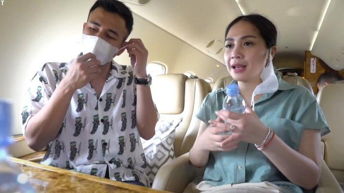Nagita Slavina dan Raffi Ahmad naik pesawat pribadi menuju Bali