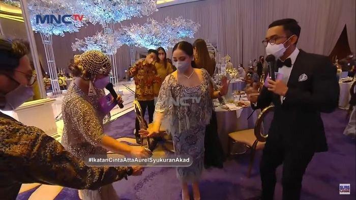 Nagita Slavina hadir di pernikahan Aurel Hermansyah