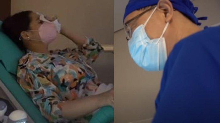 Nagita Slavina menangis saat periksa kandungan ke dokter sempat kram perut