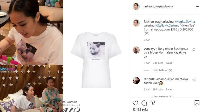 Nagita Slavina pakai kaos seharga Rp 5 juta tapi gambarnya bikin salfok