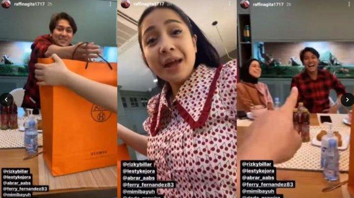 Nagita Slavina senang dapat hadiah dari Rizky Billar dan Lesti Kejora