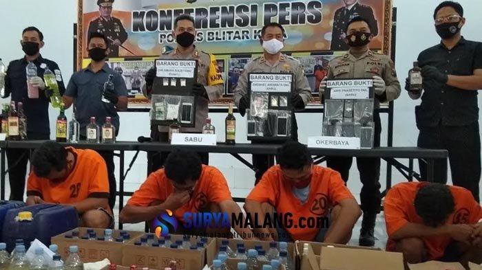 Polisi Blitar Tangkap 7 Pengedar Narkoba dan Miras, Ada yang dari Jaringan Lapas Lowokwaru Malang