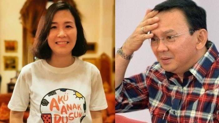Potret Veronica Tan (kiri) dan Ahok (kanan)