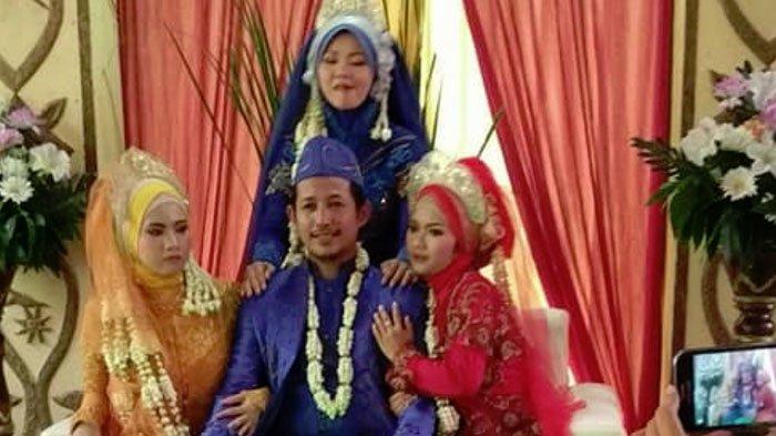 Heboh Foto Seorang Pria Nikah dengan 3 Pengantin Wanita Sekaligus, Undang Perdebatan Netizen!