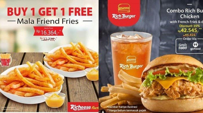 Promo Richeese Factory, Nikmati Combo Rich Burger with French Fries & Drink Hanya Rp 42 Ribuan