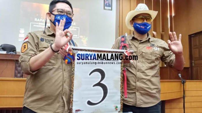 Pasangan calon bupati malang dan calon wakil bupati Malang, Heri Cahyono - Gunadi Handoko mendapat nomor urut 3 di Pilkada Malang 2020.