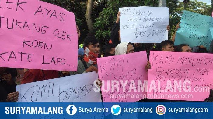 Demo Driver Ojek Online Soal Prabowo di Malang : Ini Bukan Pekerjaan Hina