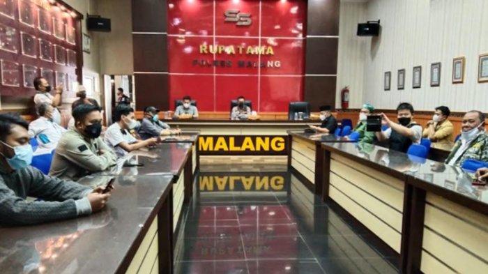 Gelar Audiensi dengan Polres Malang, Ormas Malang Bersatu Minta Polisi Segera Tahan Idris Al Marbawy