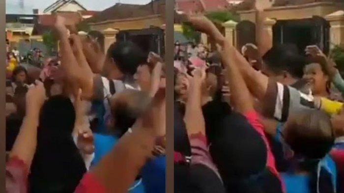 Heboh Video Kades Sebar Uang ke Kerumunan Warga Tulungagung, Banjir Kecaman dan Laporan dari Netizen