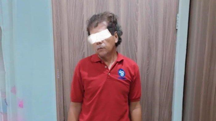 P (56) pelaku pencabulan terhadap keponakannya di Kecamatan Merakurak diamankan Satreskrim Polres Tuban, Jumat (23/4/2021).