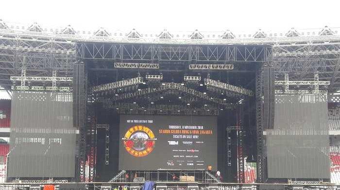 Konser Guns N Roses di Jakarta 8 November 2018, Tampil 3 Jam, Presiden Jokowi Disiapkan Tempat