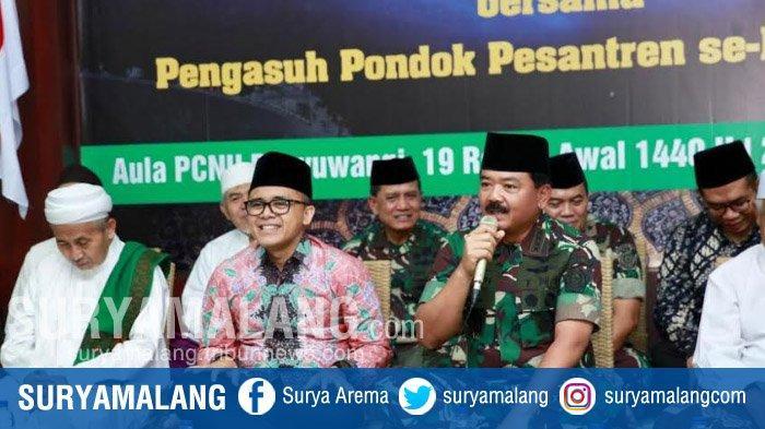 Panglima TNI Silaturahmi Dengan Para Ulama Banyuwangi, Sempat Jelaskan Latihan Tempur TNI
