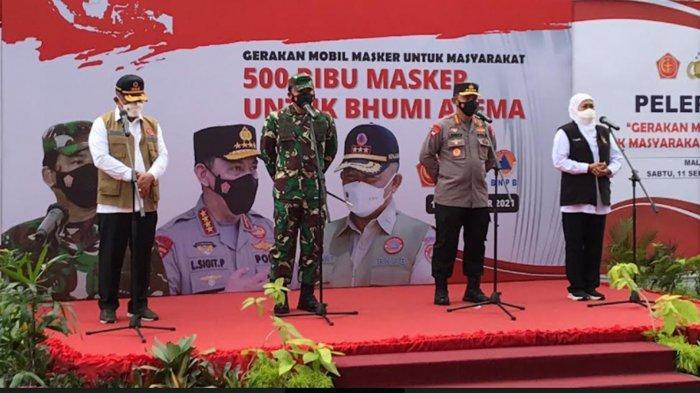 Kapolri Apresiasi Penurunan Level PPKM di Jawa Timur, Dukung  Malang Raya Bermasker