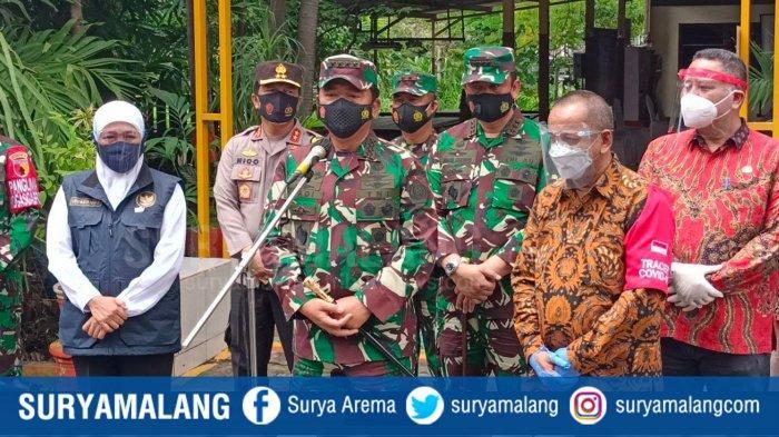 Perintah Langsung Panglima TNI : Terus 'Bombardir' Zona Merah Covid-19 RT di Jatim !