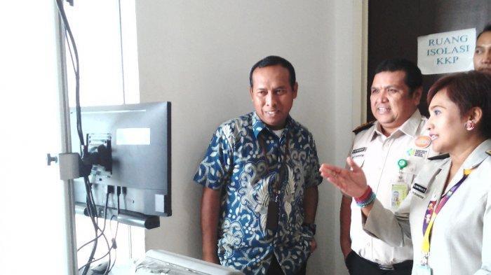 Antisipasi Monkeypox, KKP Pantau Suhu Tubuh Penumpang Pesawat Di Bandara Juanda Sidoarjo