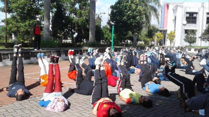 Latihan Fisik TPOK BP2D Kota Malang untuk Tingkatkan Kebugaran dan Disiplin