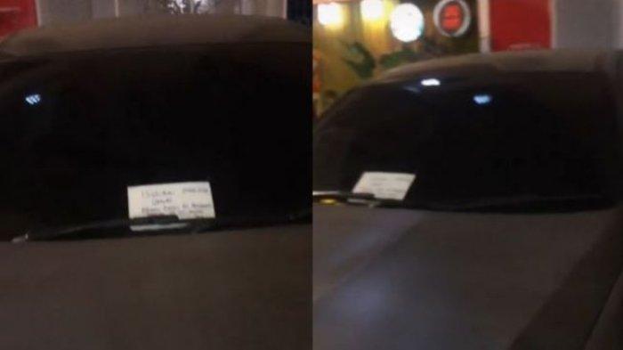 Parkir di Depan Toko Kelewat Malam, Wanita Ini Tak Bisa Ambil Mobilnya, Ada Peringatan di Kaca Depan
