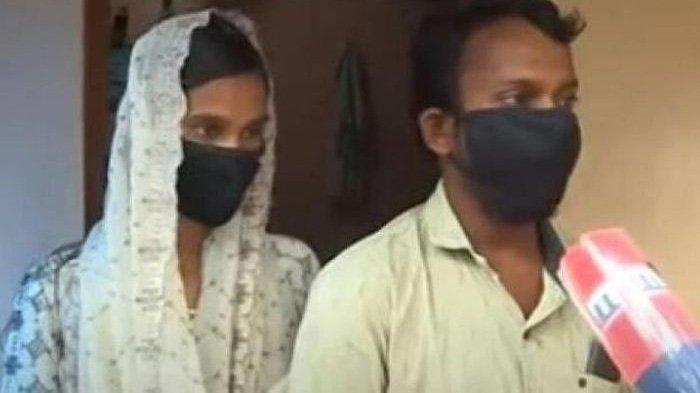 Pasangan di India Sajitha berhijab dan Rahman kekasihnya
