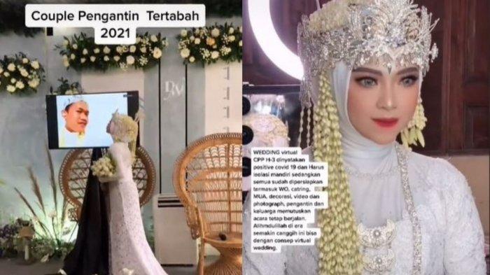 Pengantin Gelar Pernikahan Virtual Usai Mempelai Pria Terpapar Covid-19, Curhat Istri Jadi Sorotan