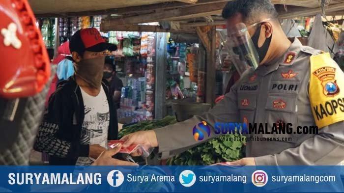Cegah Penyebaran Corona, Polres Blitar Kota Gencar Bentuk Pasar Tangguh
