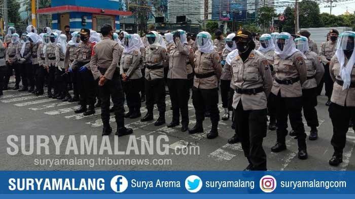 Peran Pasukan Asmaul Husna Hadapi Demo di Kota Malang