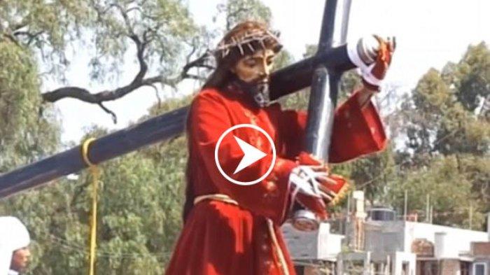 Video Patung Yesus yang Gegerkan Netizen, Perhatikan Baik-baik, Asli atau Rekayasa?