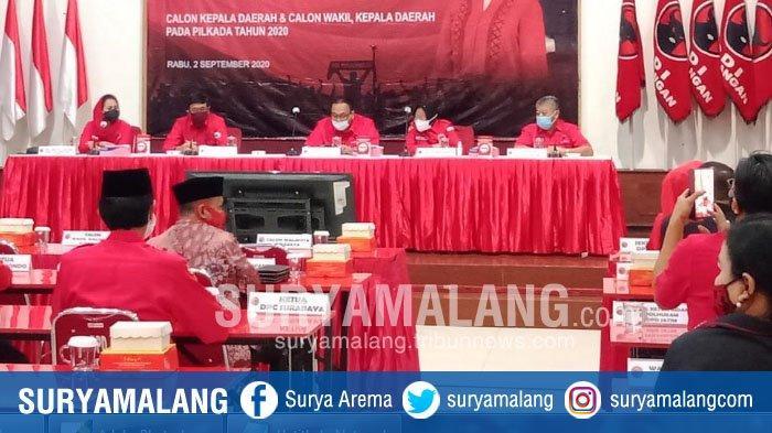 PDIP Resmi Usung Eri Cahyadi - Armuji di Pilwali Surabaya, Rekom Diserahkan di Taman Harmoni