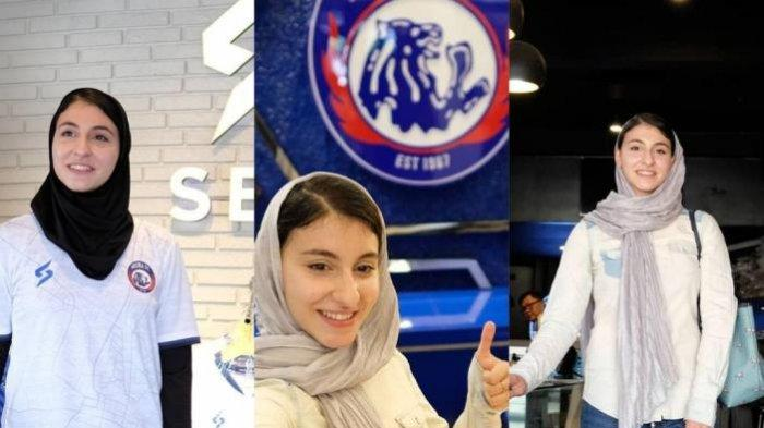 GALERI FOTO CANTIK AREMA FC : Pebulutangkis Iran Sekaligus Aremanita Berkunjung ke Kandang Singa