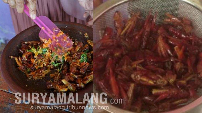 Sensasi Kuliner Belalang Sambelan Kemangi di Mojokerto, Cukup Bayar Rp 45.000/Porsi