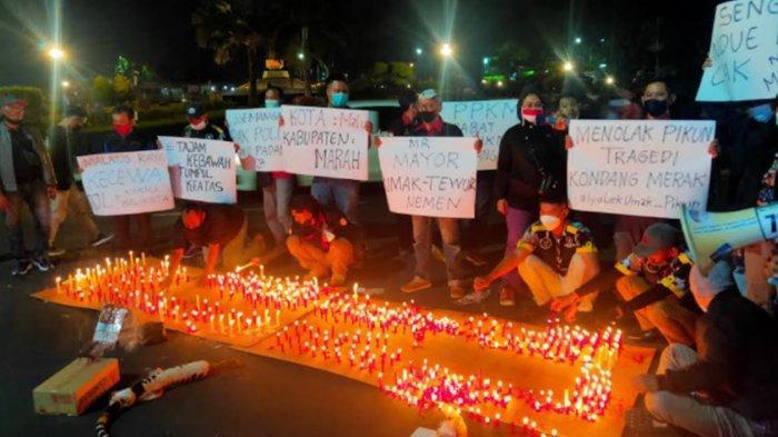 Aksi 1000 Lilin untuk Dugaan Pelanggaran PPKM Wali Kota Malang, Sutiaji: Saya Minta Maaf