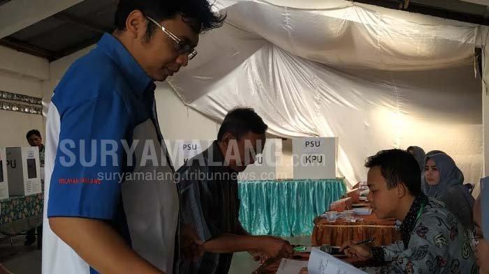 Komisoner KPU Kota Malang Pantau Langsung Pelaksanaan PSU Di Tiga TPS