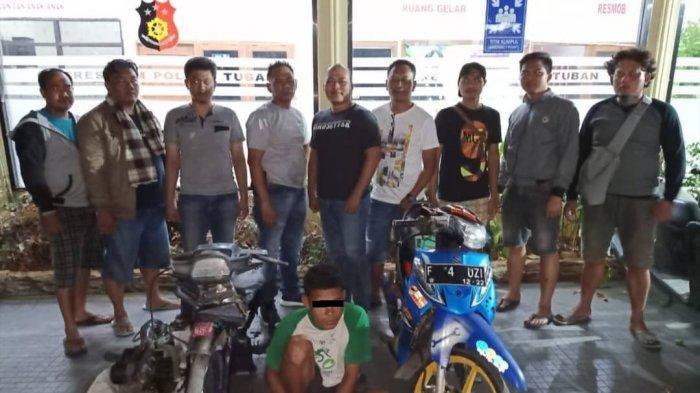 Motor Tetangga Sendiri Dicuri, Pelaku Ditangkap Polres Tuban Setelah Jual Motor Curian di Medsos