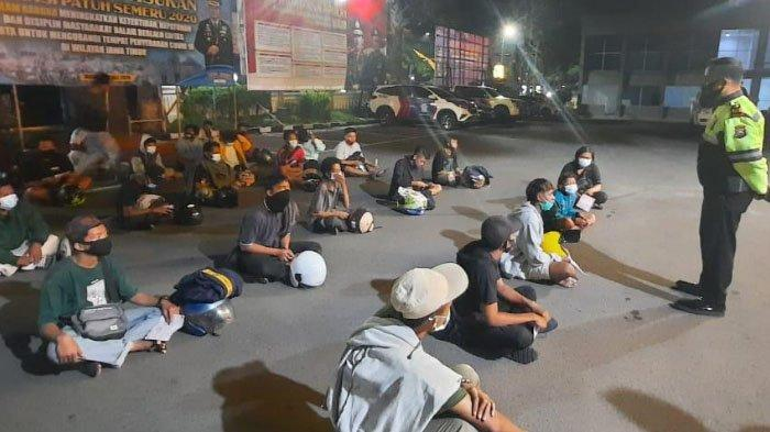 Patroli Dini Hari, Polisi Temukan Kerumunan Pengendara Motor Tak Standar di Jl Ciliwung, Kota Malang