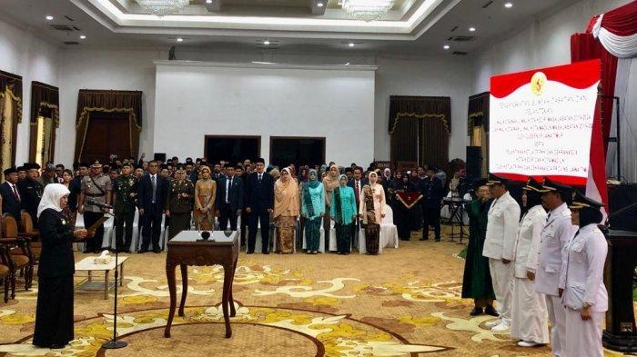 Wali Kota Kediri Dan Wali Kota Madiun Resmi Dilantik Gubernur Jatim
