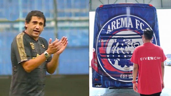 Pelatih Arema FC, Eduardo Almeida menyambut baik hadirnya bus Arema FC yang baru