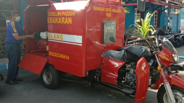 Damkar Kota Malang Punya Alat Pemadam Kebakaran Roda Tiga