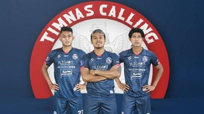Pemain Arema FC Dedik Setiawan, Kushedya Hari, dan John Ahmat Farizi dipanggil Timnas Indonesia.