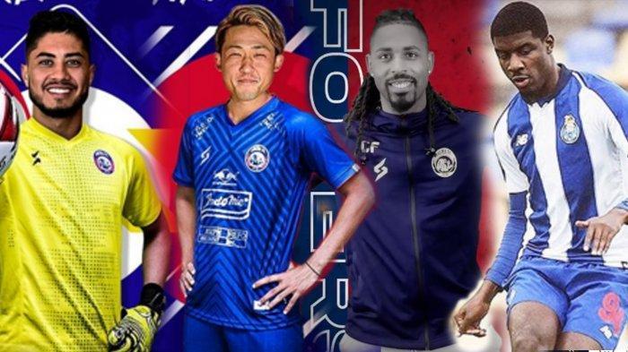 4 Pemain asing Arema FC , Adilson Maringa, Renshi Yamaguchi, Carlos Fortes dan Alan Bidi (rumor)  mereka semua adalah pemain yang sama-sama pernah membela klub UD Vilafranquense Portugal