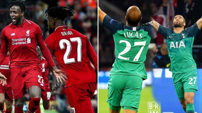 Ini Magic Nomor 27 Divock Origi - Lucas Moura Bagi Liverpool & Tottenham Hotspur di Liga Champions