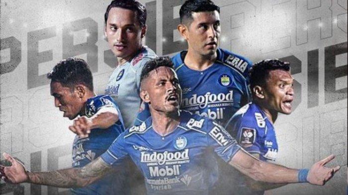 Potret pemain Persib Bandung yang akan bermain di perempat final Piala Menpora 2021 melawan Persebaya Surabaya