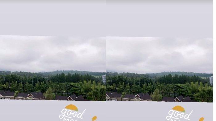 Pemandangan dari villa Ayu Ting Ting