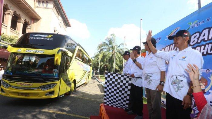 Sekitar 800 Warga Perantau Di Surabaya Ikuti Program Mudik Gratis Bareng PTPN Group Area Jatim