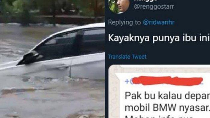 Terungkap Sosok Pemilik BMW Hanyut di Banjir Jakarta, Ketemu Berkat Cuitan di Medsos