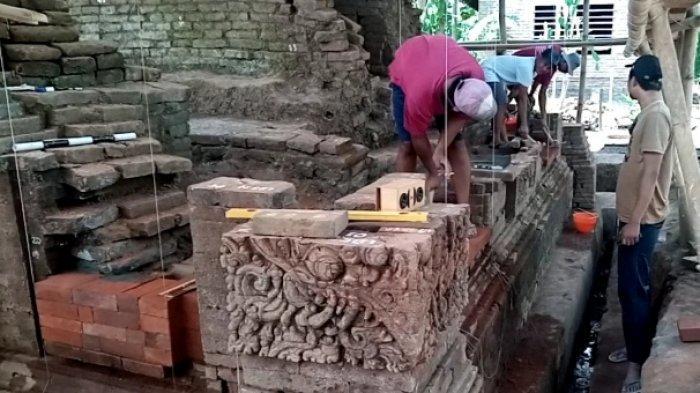 Pemugaran Candi Mirigambar Tulungagung Capai 40 Persen, Batu Bata Mulai Ditata Lagi