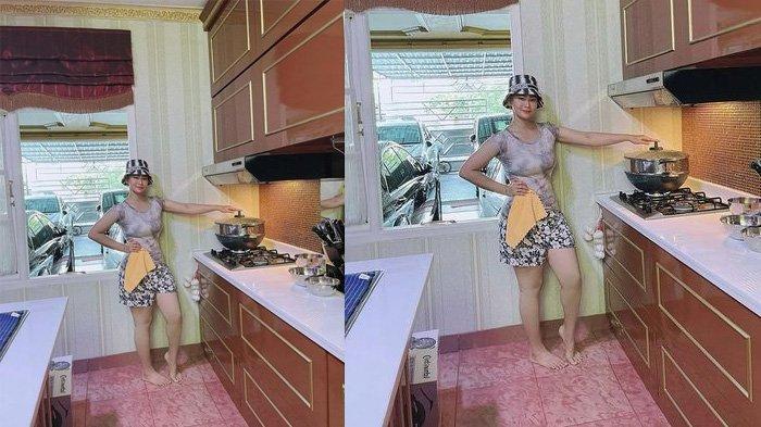 Penampakan dapur Inul Daratista yang mewah dan klasik bergaya eropa
